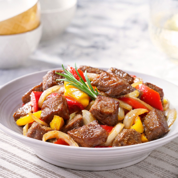 Sauteed Beef Cube in Soy Sauce