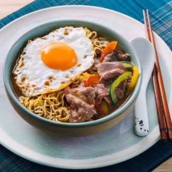 Colourful Satay Beef Noodles