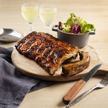 Grilled Pork Ribs with Vinegar and Soy Sauce