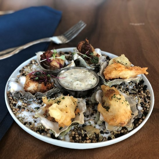 Recipe Crispy Fried Oysters Combo Oyster with Premium Garlic Yogurt S