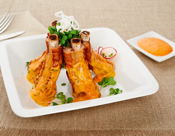 Recipe Garlic Flavored Spare Ribs with Sriracha Mayo