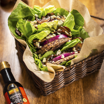 Recipe Mushroom and Blue Cheese Lettuce Wrapped Burger S