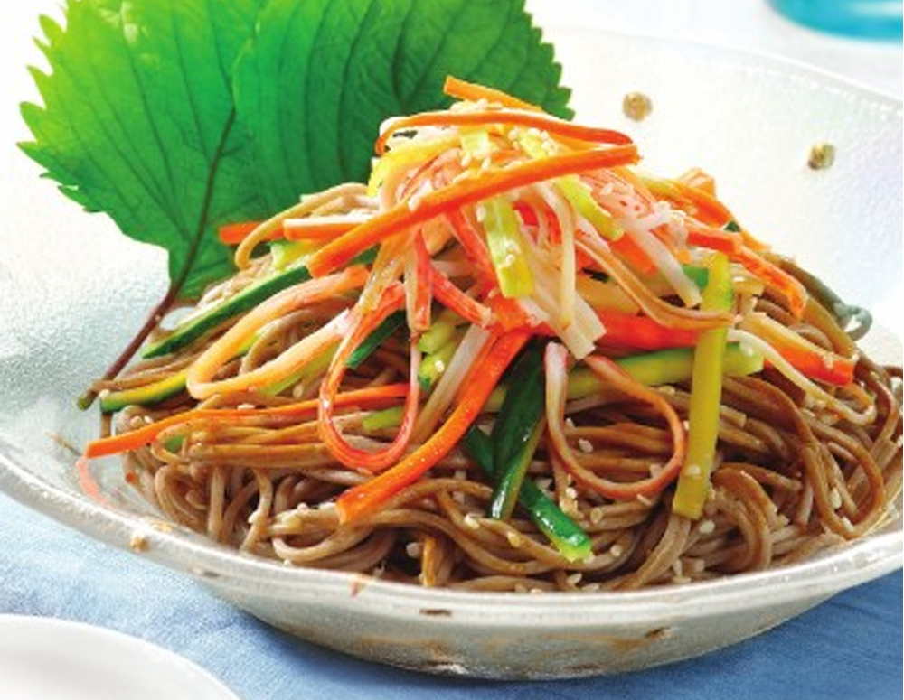 Recipe Soba Noodles with Imitation Crab Meat