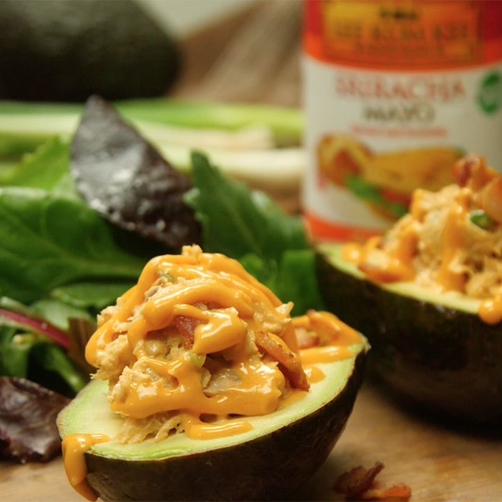 Recipe Tuna Stuffed Avocado with Bacon S