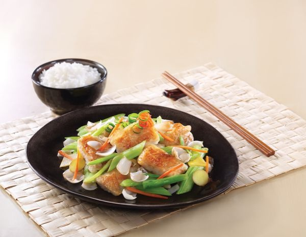 Sautéed Fish Fillet with Celery and Lily Bulbs